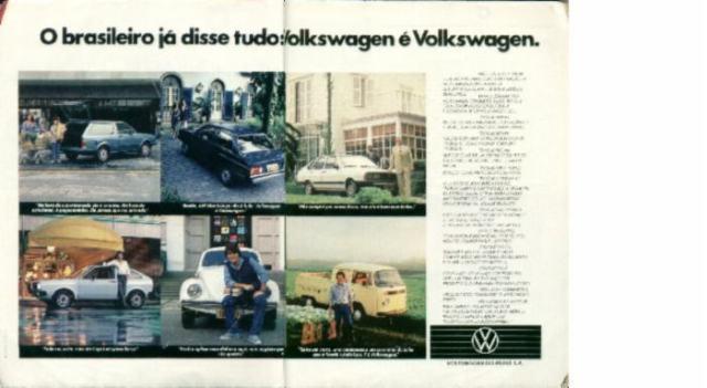 1983 - Institucional Volkswagen com o Voyage