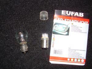 comparativo lâmpada normal X LEDs
