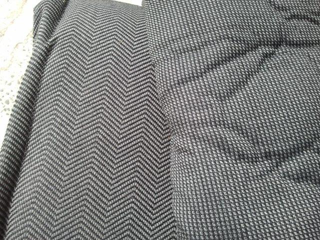 Tecido da esquerda padrão Gol GTi. Na direita o padrão do Monza S/R até 87