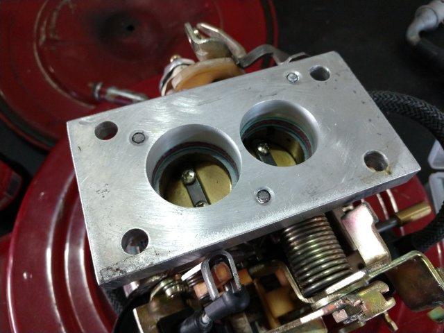 Flange de adaptação para carburador Brosol 2E ou 3E